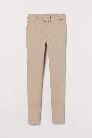 Skinny High Jeans - Beige