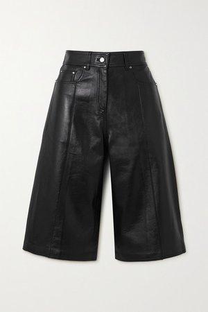 Fenella Leather Shorts - Black