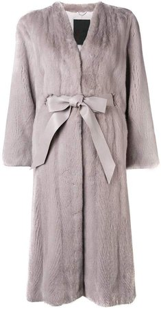 Liska longsleeved belted waist coat
