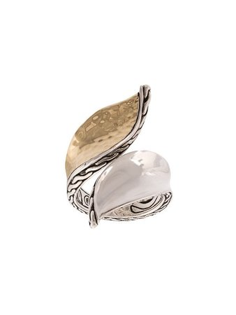 John Hardy Wave Hammered Bypass Ring - Farfetch