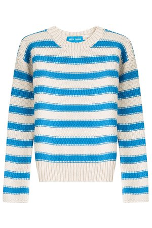 Amorgos Striped Cotton Blend Pullover Gr. L