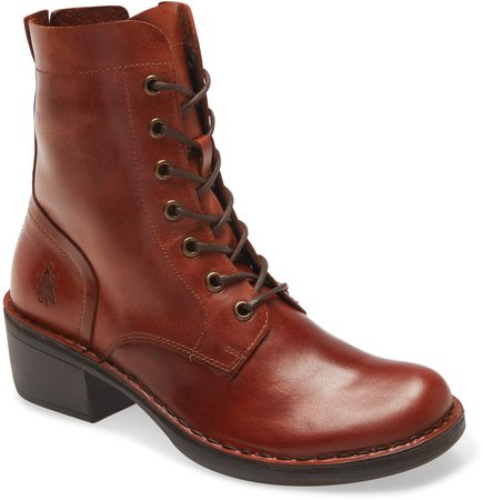Milu Lace-Up Leather Boot