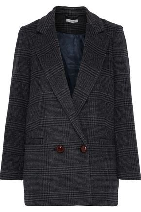 Woodside double-breasted checked wool-blend blazer | GANNI | Sale up to 70% off | THE OUTNET