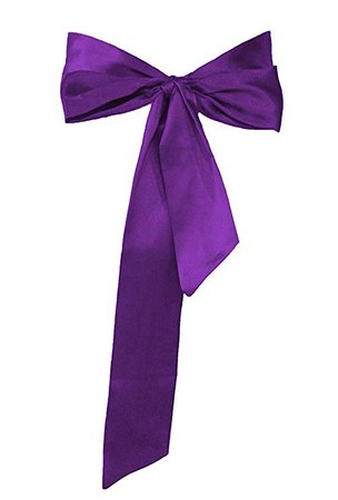 Meet Edge Satin Sash Belt for Bridal Wedding Purple at Amazon Women's Clothing store: