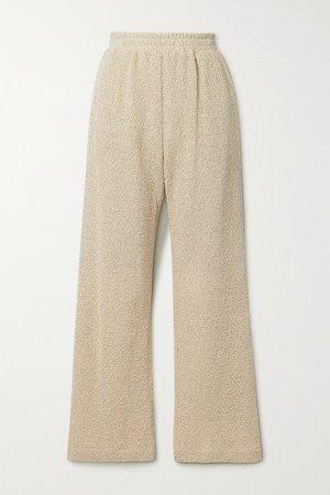 Linen And Cotton-blend Straight-leg Pants - Beige