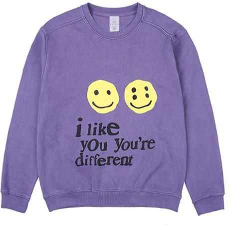 Amazon.com: THE SCOTTS Men's Crewneck Sweatshirt Kanye i like you you're different Sweatshirt Letter Print Sweatshirt Hoodie: Clothing