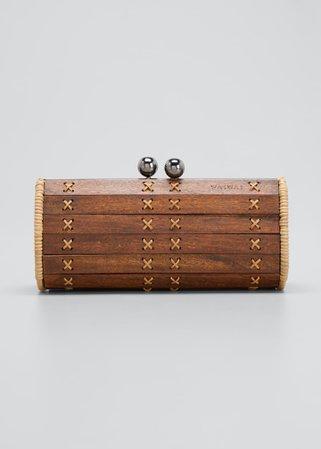 Wai Wai Baoba Wood Cylinder Clutch Bag - Bergdorf Goodman