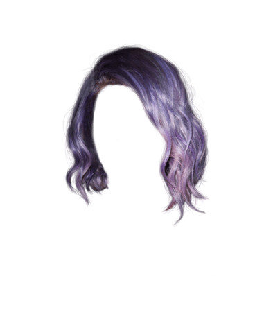 purple hair png aesthetic - Google Search
