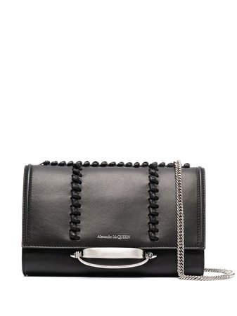 Shop Alexander McQueen The Story leather shoulder bag with Express Delivery - FARFETCH
