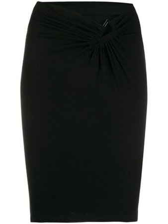 Black UNRAVEL PROJECT v-waist fitted skirt - Farfetch
