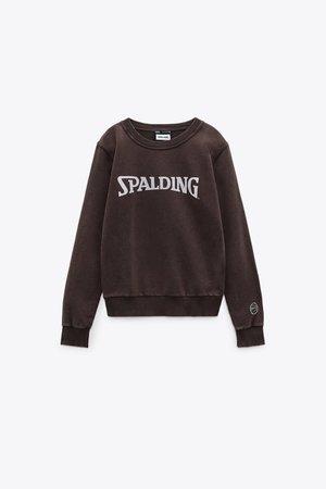 WASHED SPALDING® SWEATSHIRT | ZARA United States