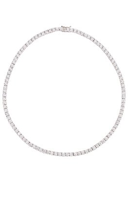 The M Jewelers NY Full Iced Out Necklace in Sterling Silver | REVOLVE