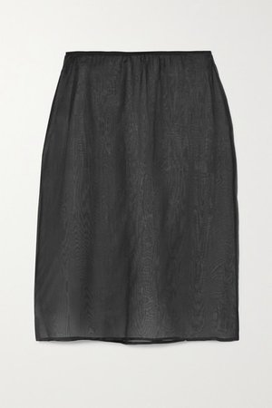 Silk-organza Skirt - Black