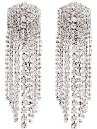 Alessandra Rich Square Cascade Crystal Earrings - Farfetch