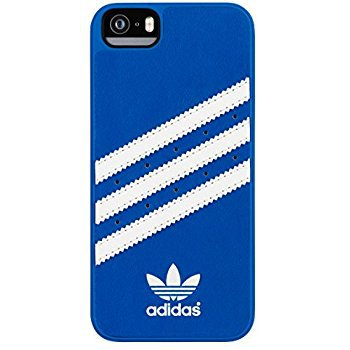 Amazon.com: adidas Molded Cell Phone Case for Apple iPhone 5S/SE - Retail Packaging - Blue/White: Cell Phones & Accessories