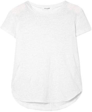 Slub Linen T-shirt - White