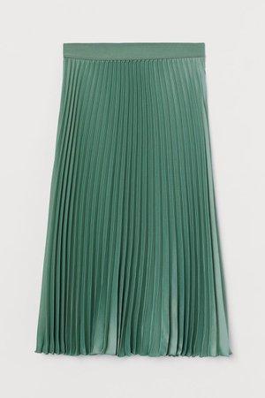 Pleated skirt - green - ladies | H&M DE