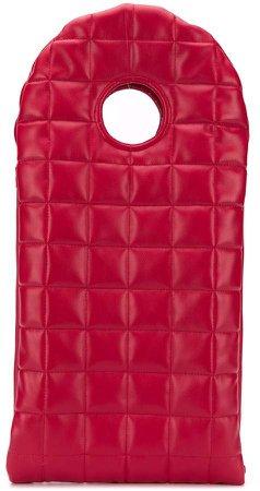 geometric padded clutch bag