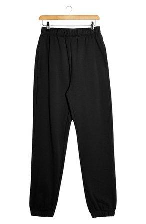 Topshop Washed Joggers | black