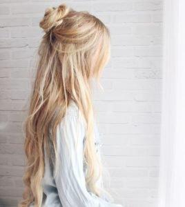 Half Bun-Half Down Hairstyle