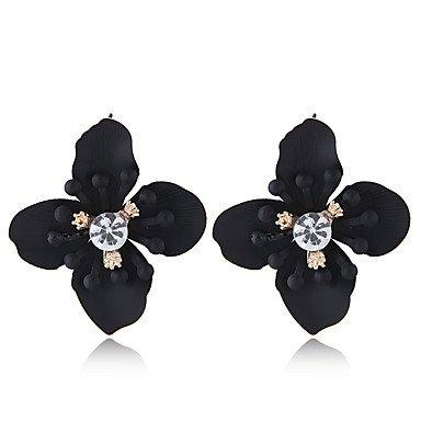 Women's Stud Earrings Retro Flower Ladies European Sweet Elegant Earrings Jewelry Yellow / Green / Wine For Causal Daily 1 Pair 6962351 2019 – $8.01