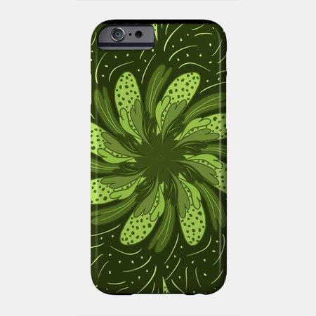 Green Flower - Flowers - Phone Case | TeePublic