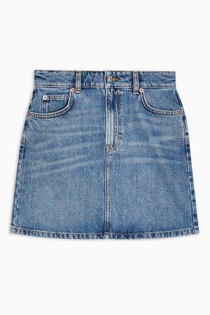Blue Denim Mini Skirt | Topshop