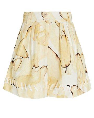 Aje Unlace Pear Linen Shorts | INTERMIX®