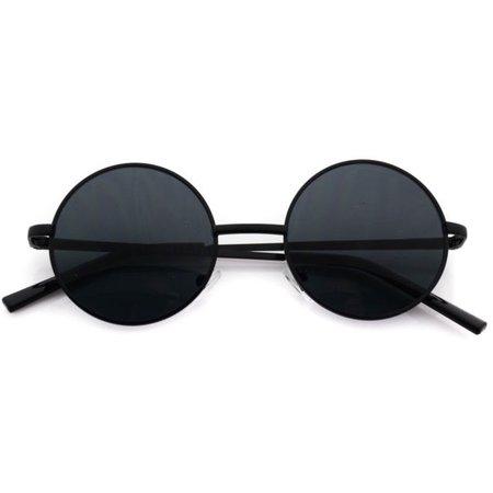 eBay Metal Round Circle Ozzy Elton John Black Tint Lennon Style Sunglasses
