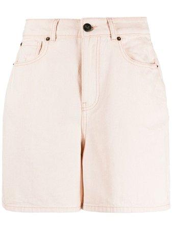 Semicouture high-waisted denim shorts