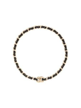 Chanel Pre-Owned Cc Logo Bracelet Vintage | Farfetch.com