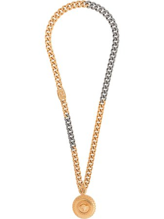 Versace Medusa logo necklace gold DG18195DJMT - Farfetch