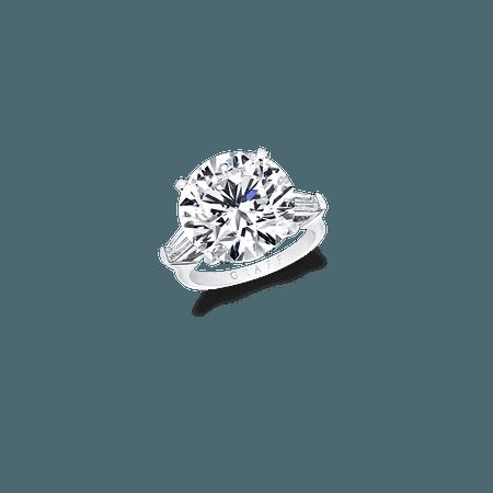 Round Diamond Ring, 10.04 ct round diamond | Graff