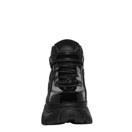 Lord Chunky Bubble Platform Sneaker | Black Patent High Top Sneakers | Windsor Smith Shoes