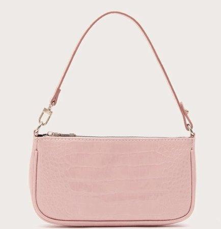 light pink baguette bag