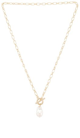 Five and Two Athena Necklace in Gold & Pearl | REVOLVE