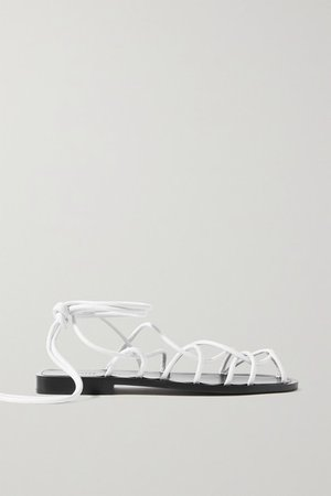 Lyon Leather Sandals - White