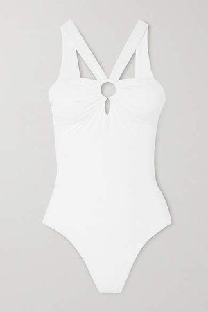 Valencia Ruched Swimsuit - White