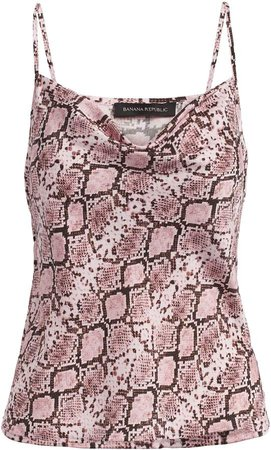 Snake Print Cowl-Neck Camisole