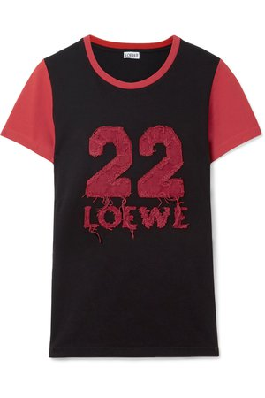 Loewe | Appliquéd cotton-jersey T-shirt | NET-A-PORTER.COM