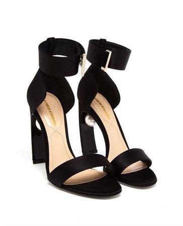 NICHOLAS KIRKWOOD | Satin High Heeled Sandals with Pearl Detail