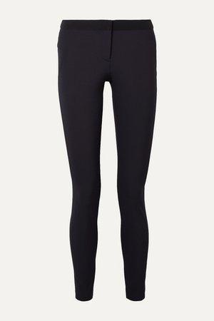 Stretch-crepe Slim-leg Pants - Navy