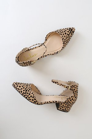 Cute Cheeath Heels - Vegan Suede Pumps - Block Heel Pumps - Lulus