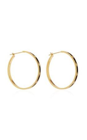 Night Sky 18k Gold, Diamond And Enamel Hoop Earrings By Azlee | Moda Operandi
