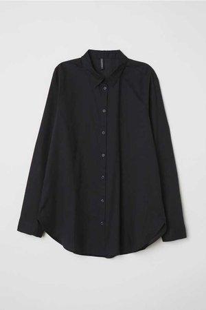 Cotton Shirt - Black - | H&M US