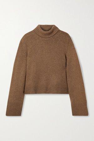 Brown Marion cashmere turtleneck sweater | Khaite | NET-A-PORTER