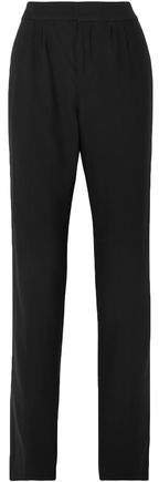 Pleated Wool Straight-leg Pants