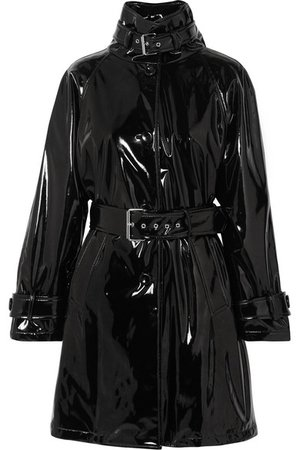 Moschino | Belted vinyl trench coat | NET-A-PORTER.COM