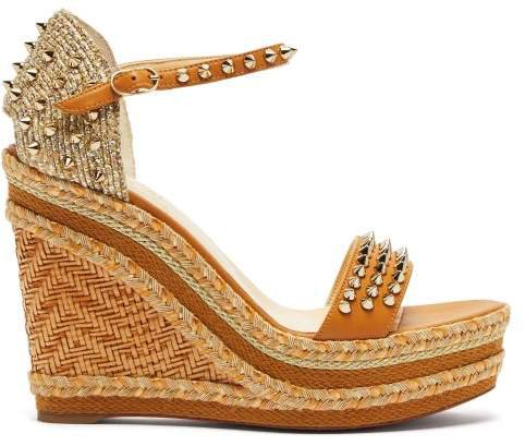 Madmonica 120 Studded Wedge Sandals - Womens - Nude Gold