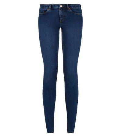 Blue 'Lift & Shape' Skinny Jeans   New Look